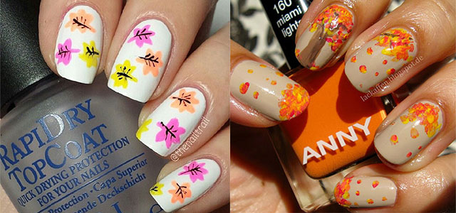 15 + Amazing Fall / Autumn Nail Art Designs, Ideas, Trends & Stickers 2014  | Fabulous Nail Art Designs - 15 + Amazing Fall / Autumn Nail Art Designs, Ideas, Trends