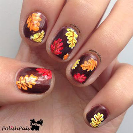 15-Best-Autumn-Leaf-Nail-Art-Designs-Ideas- - 15 + Best Autumn Leaf Nail Art Designs, Ideas, Trends & Stickers