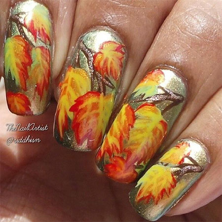 15-Best-Autumn-Leaf-Nail-Art-Designs-Ideas-Trends-Stickers-2014-Fall-Nails-3