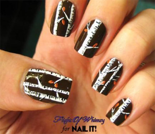 Simple Fall Nail Designs