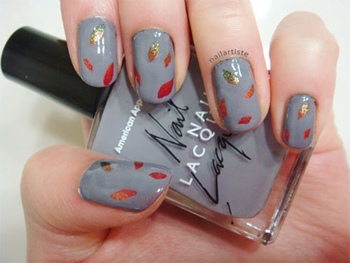Easy Fall Nail Art - 15 + Cute & Easy Fall Nail Art Designs, Ideas, Trends & Stickers
