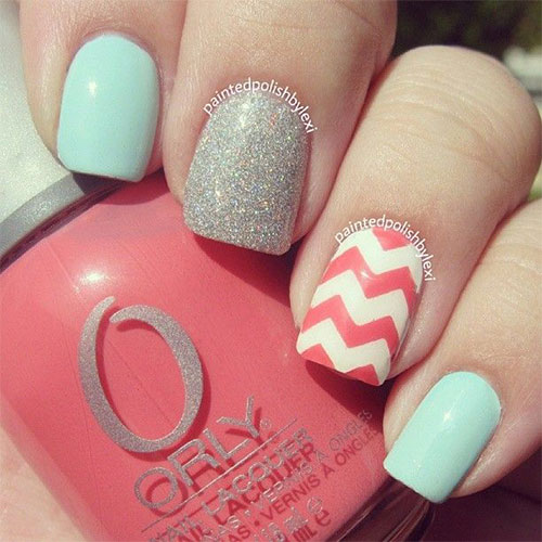 15-Easy-Pretty-Nail-Art-Designs-Ideas-Trends- - 15 Easy Pretty Nail Art Designs, Ideas, Trends & Stickers 2014