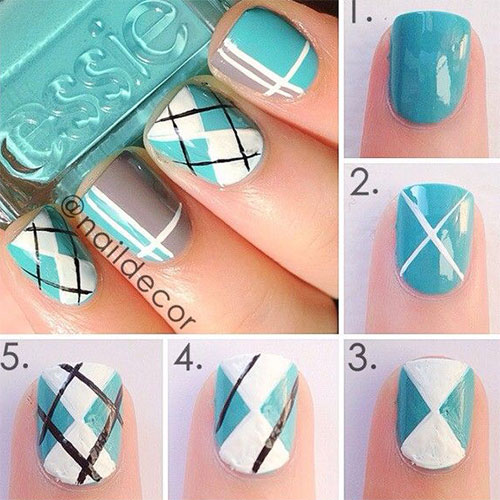 15-Easy-Step-By-Step-New-Nail-Art-Tutorials-For-Beginners-Learners-2014-17