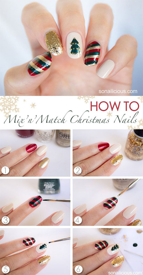 15-Easy-Step-By-Step-New-Nail-Art-Tutorials-For-Beginners-Learners-2014-2