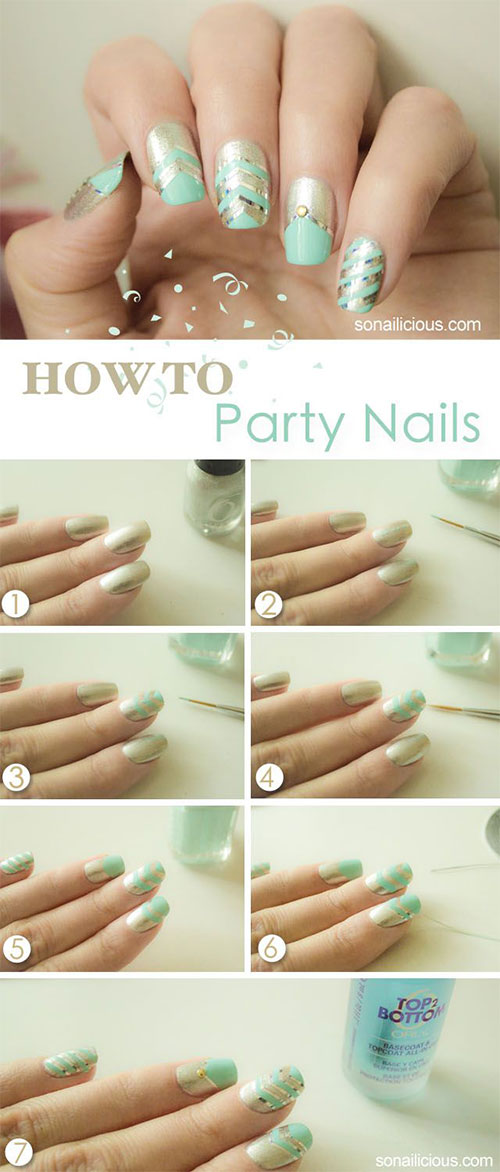 15-Easy-Step-By-Step-New-Nail-Art-Tutorials-For-Beginners-Learners-2014-3