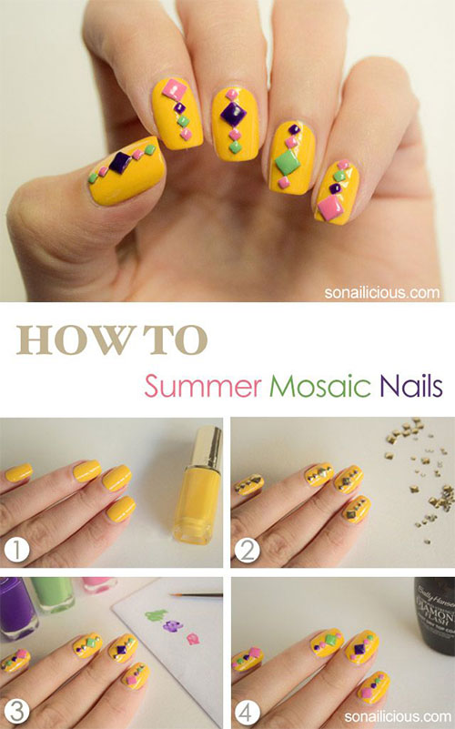 15-Easy-Step-By-Step-New-Nail-Art-Tutorials-For-Beginners-Learners-2014-7
