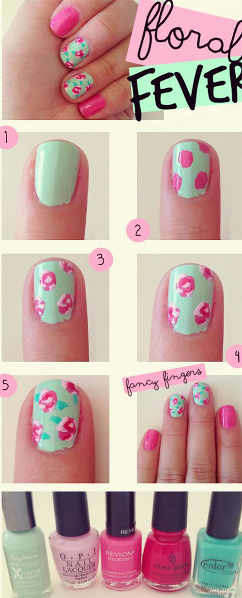15-Easy-Step-By-Step-New-Nail-Art-Tutorials-For-Beginners-Learners-2014-9