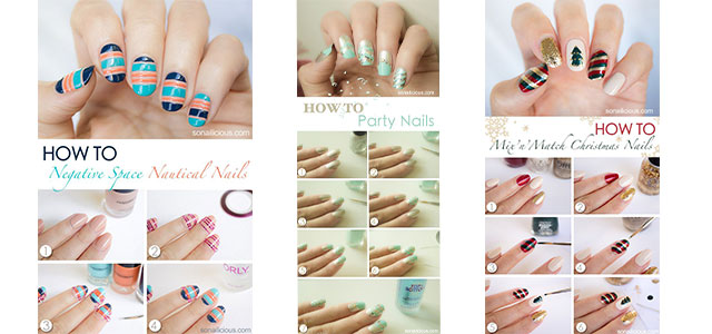 15-Easy-Step-By-Step-New-Nail-Art-Tutorials-For-Beginners-Learners-2014