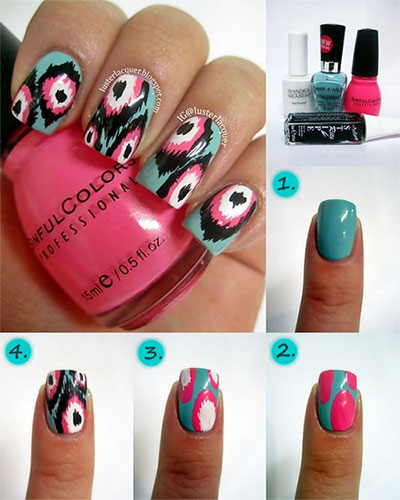 15-Pretty-Nail-Art-Tutorials-For-Beginners-Learners-2014-1