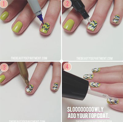 15-Pretty-Nail-Art-Tutorials-For-Beginners-Learners-2014-4