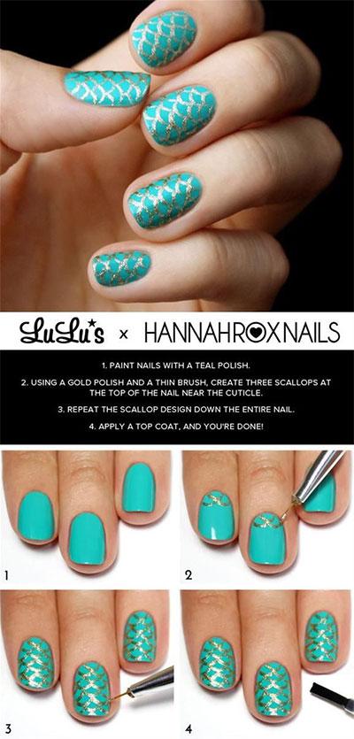 15-Pretty-Nail-Art-Tutorials-For-Beginners-Learners-2014-7