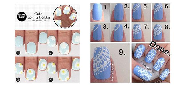 15-Pretty-Nail-Art-Tutorials-For-Beginners-Learners-2014