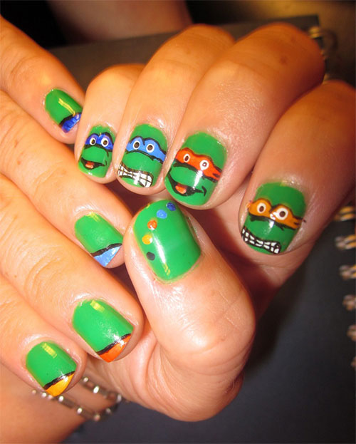 20 Teenage Mutant Ninja Turtles Nail Art Designs, Ideas & Stickers ...
