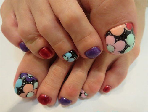 Elegant-Fall-Autumn-Toe-Nail-Art-Designs-Ideas- - Elegant Fall / Autumn Toe Nail Art Designs, Ideas, Trends & Stickers