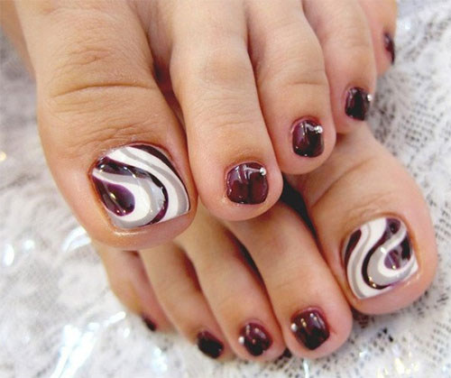 Simple Elegant Fall Nail Designs: Elegant Fall / Autumn Toe Nail Art Designs, Ideas, Trends