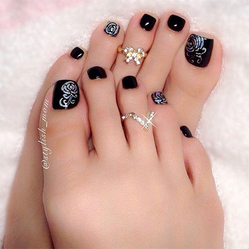 Elegant Fall Autumn Toe Nail Art Designs Ideas Trends Stickers