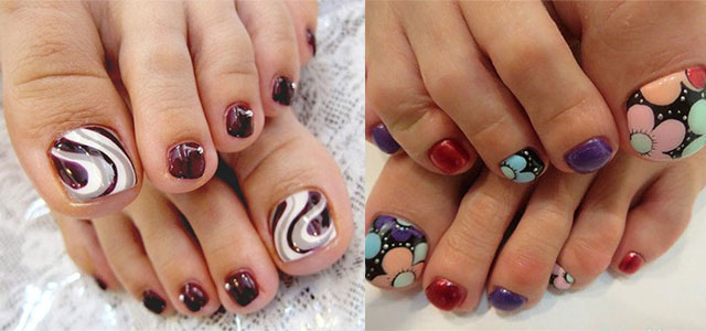 nail designs for fall 2014. elegant fall / autumn toe nail art designs, ideas, trends \u0026 stickers 2014 | fabulous designs for