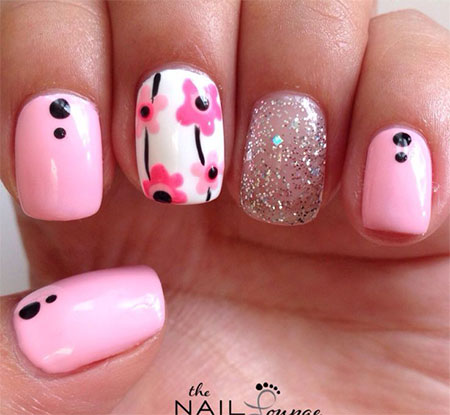 Latest-New-Nail-Art-Designs-Ideas-Trends-Stickers-2014-For-Girls-7
