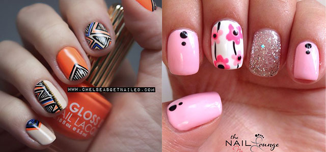 Latest New Nail Art Designs Ideas Trends Stickers 2014 For