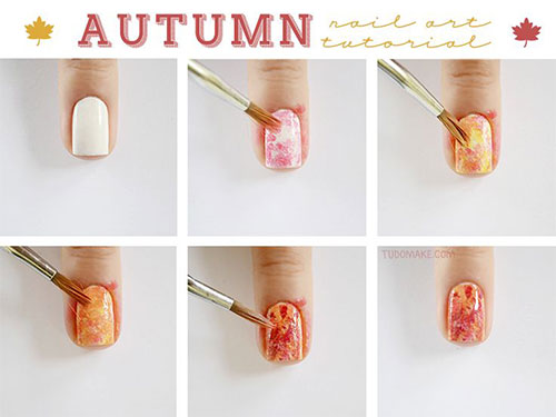 Step-By-Step-Autumn-Nail-Art-Tutorials-For-Beginners-Learners-2014-1