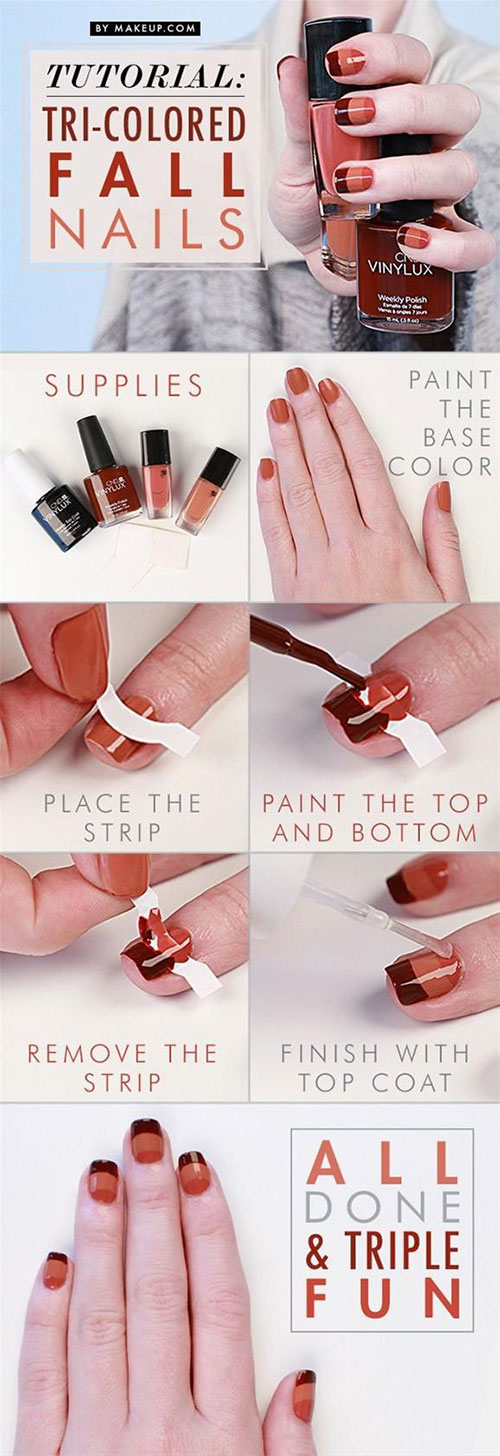 Step By Step Autumn Nail Art Tutorials For Beginners & Learners 2014 ...