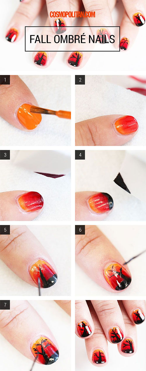 Step-By-Step-Autumn-Nail-Art-Tutorials-For-Beginners-Learners-2014-4