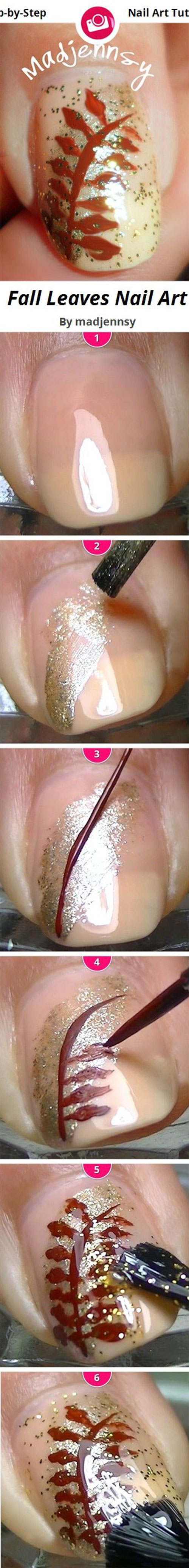 Step-By-Step-Autumn-Nail-Art-Tutorials-For-Beginners-Learners-2014-5