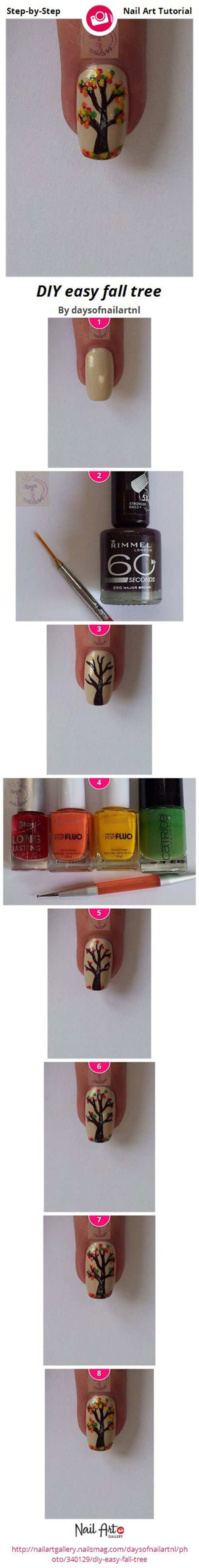 Step-By-Step-Autumn-Nail-Art-Tutorials-For-Beginners-Learners-2014-6