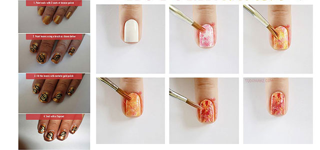 Step-By-Step-Autumn-Nail-Art-Tutorials-For-Beginners-Learners-2014