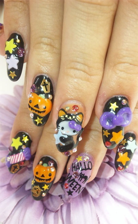 10 + Halloween 3d Nail Art Designs, Ideas, Trends ...