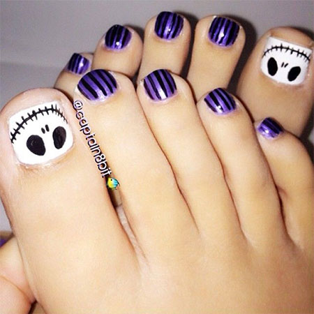 10 Unique Halloween Toe Nail Art Designs, Ideas, Trends & Stickers ...