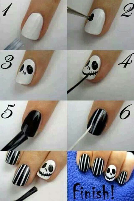 12-Easy-Step-By-Step-Halloween-Nail-Art-Tutorials-For-Beginners-Learners-2014-7