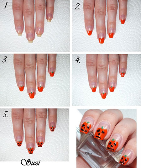 12-Easy-Step-By-Step-Halloween-Nail-Art-Tutorials-For-Beginners-Learners-2014-8