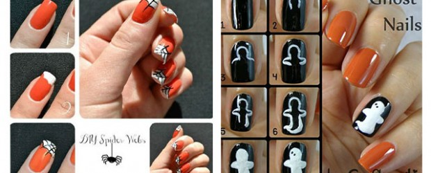 12 easy step by step halloween nail art tutorials for beginners learners 2014 - Halloween Easy Nail Art