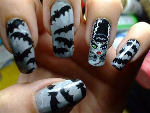 12-Halloween-Bat-Nail-Art-Designs-Ideas-Trends- - 12 Halloween Bat Nail Art Designs, Ideas, Trends & Stickers 2014