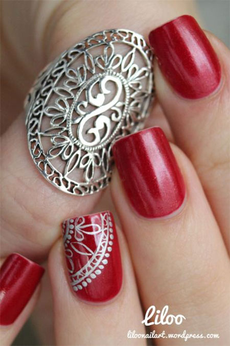 Red Nail Art Designs, Ideas, Trends amp; Stickers 2014  Fabulous Nail