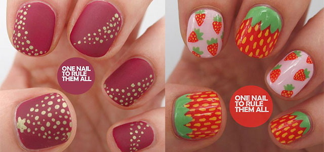 12 Simple Red Nail Art Designs Ideas Trends Stickers 2014