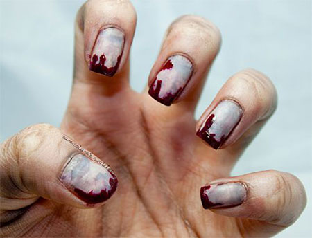 Zombie Nail Art - 15 + Creepy Halloween Zombie Nail Art Designs, Ideas, Trends