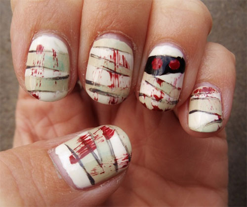 15-Scary-Halloween-Mummy-Nail-Art-Designs-Ideas-Trends-Stickers-2014-10