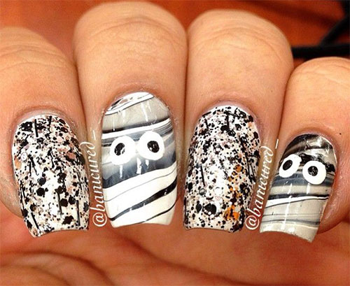 15-Scary-Halloween-Mummy-Nail-Art-Designs-Ideas-Trends-Stickers-2014-13