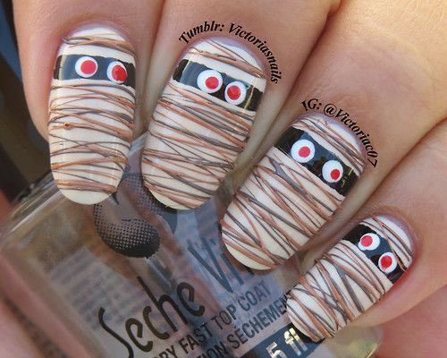15-Scary-Halloween-Mummy-Nail-Art-Designs-Ideas-Trends-Stickers-2014-3