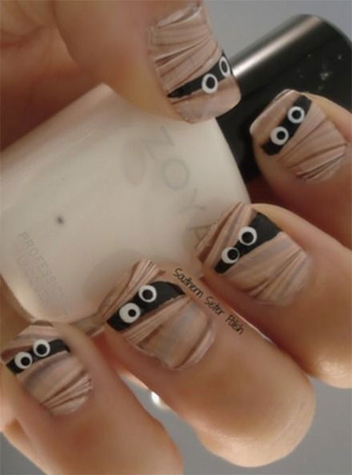 15-Scary-Halloween-Mummy-Nail-Art-Designs-Ideas-Trends-Stickers-2014-6