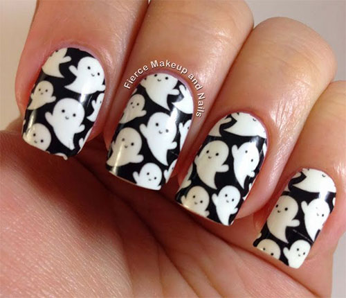 18 Halloween Ghost Nail Art Designs, Ideas, Trends ...