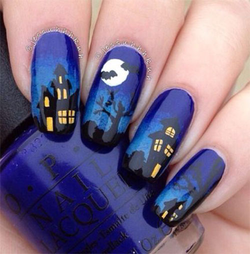 Halloween Nail Art: 18 Halloween Ghost Nail Art Designs, Ideas, Trends