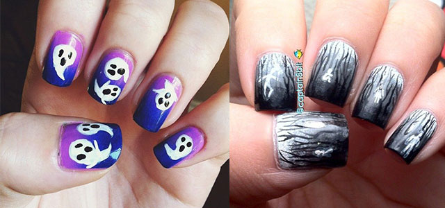 18 Halloween Ghost Nail Art Designs, Ideas, Trends & Stickers 2014 |  Fabulous Nail Art Designs - 18 Halloween Ghost Nail Art Designs, Ideas, Trends & Stickers 2014