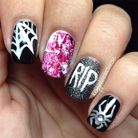 18-Halloween-Spider-Web-Nail-Art-Designs-Ideas-Trends-Stickers-2014-13