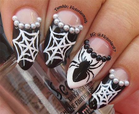 18-Halloween-Spider-Web-Nail-Art-Designs-Ideas-Trends-Stickers-2014-14