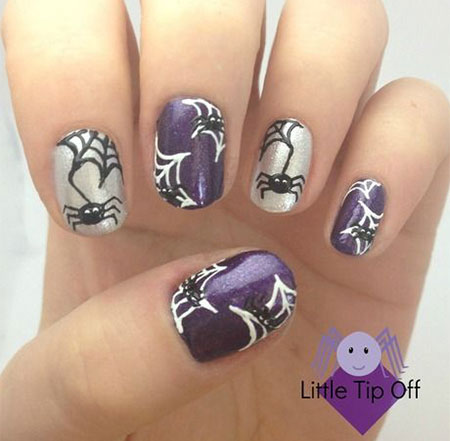 18-Halloween-Spider-Web-Nail-Art-Designs-Ideas- - 18 Halloween Spider Web Nail Art Designs, Ideas, Trends & Stickers