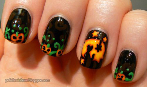 20 halloween pumpkin nail art designs ideas trends stickers 20 halloween pumpkin nail art designs ideas trends prinsesfo Choice Image