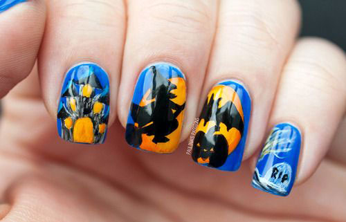 20 Halloween Pumpkin Nail Art Designs Ideas Trends